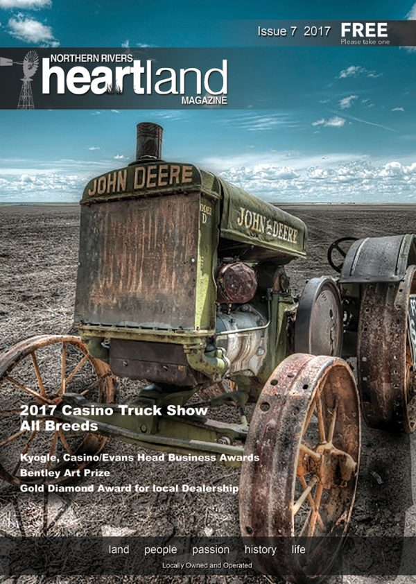 Heartland Magazine Issue 7, News Casino NSW, Lismore News, NSW Northern Rivers Advertising, Lismore Advertising, Ballina Advertising, Byron Bay Advertising, Byron Bay News Cover