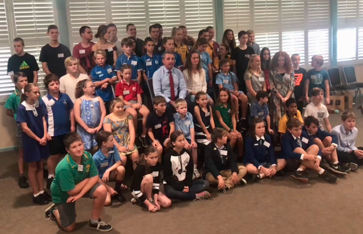 Kevin Hogan's Morning Tea for Clarence Valley School Leaders, Heartland Magazine News NSW Northern Rivers