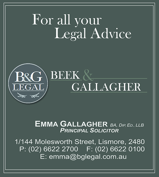 Beek & Gallagher Lismore, Heartland Magazine NSW, Lismore Solicitors