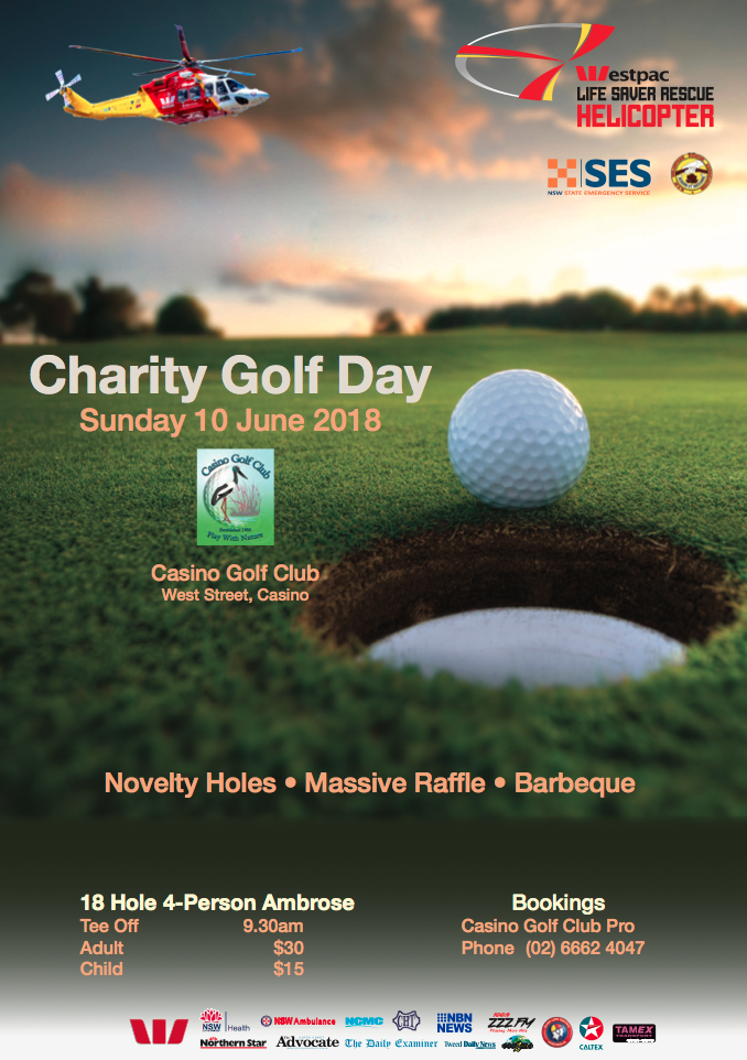 Casino Golf Club Charity Golf Day, Casino NSW Advertising, Heartland Magazine