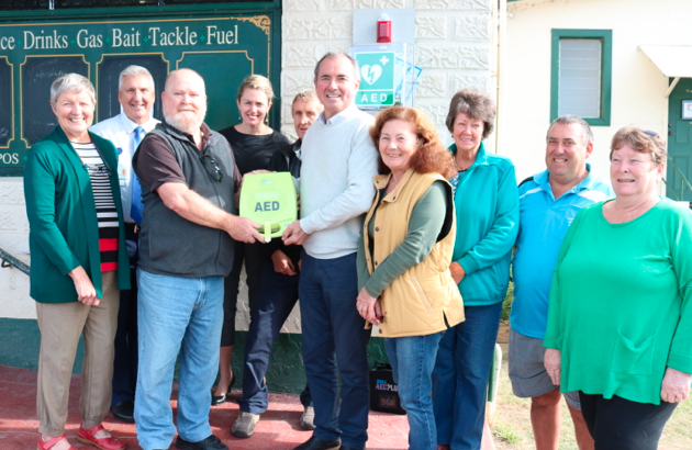 LAWRENCE HAS A BIG HEART: COOPERATION DELIVERS LIFESAVING DEFIBRILLATOR