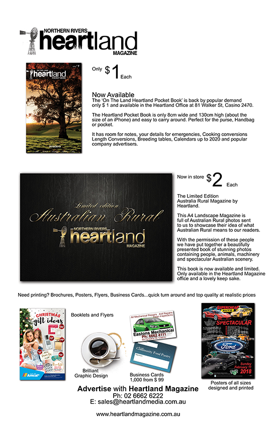 Heartland Magazine, News, Events, Media Releases, Lismore, Ballina, Byron Bay, Tweed heads, Grafton, McLean NSW, Ulmurra