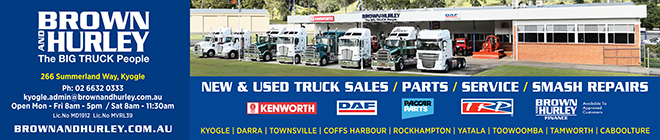 Brown & Hurley Trucks, Kyogle News, Heartland Magazine Kyogle