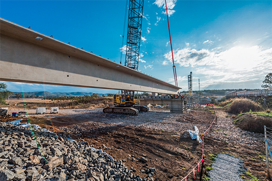 FIRST GIRDER LIFT ON THE NEW $48 MILLION TABULAM BRIDGE