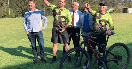 THOMAS GEORGE MP LISMORE MOUNTAIN BIKING, LISMORE HEARTLAND MAGAZINE