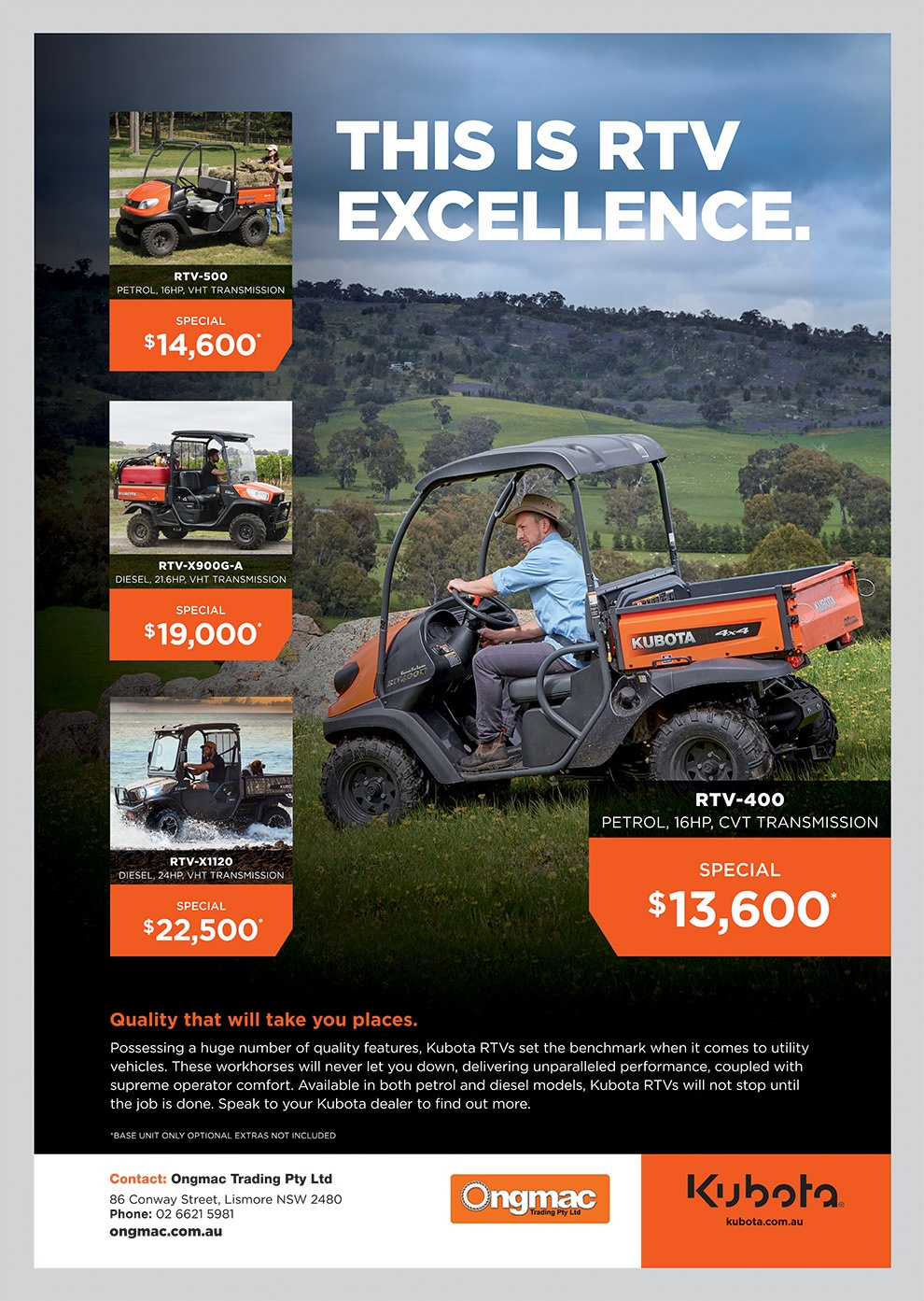 Ongmac Trading Lismore, Heartland Magazine Lismore News, Lismore News, Kubota Equipment, Kubota for sale