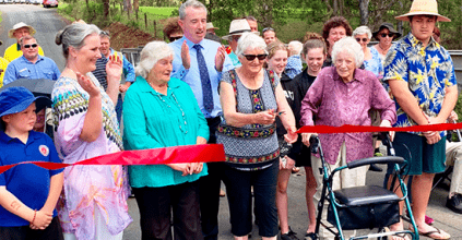 Kevin Hogan opens Christensens Bridge, Kyogel News and Events, Heartland Magazine Kyogle