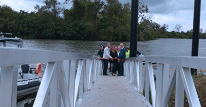 Minister opens new Coraki boat ramp and jetty