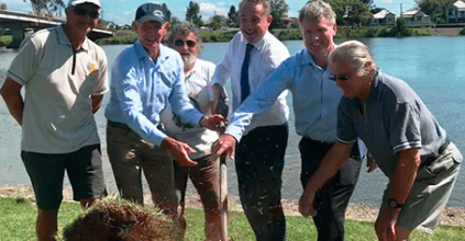 Kevin Hogan turns first sod on $3.8 million Woodburn Foreshore Redevelopment, Woodburn News and Events