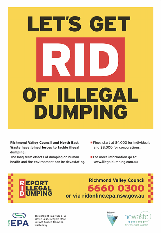 Report Illegal Dumping Richmond Valley Council, Heartland Magazine Ballina News and Events