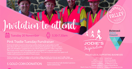 Jodie's Inspiration Pink Tradie Tuesday, Casino News, Heartland Magazine news and events casino nsw