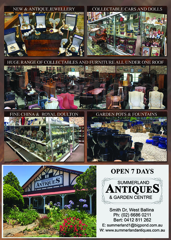 Ballina Antiques, Ballina Garden Centre, Heartland Magazine Ballina News, Events and Advertising