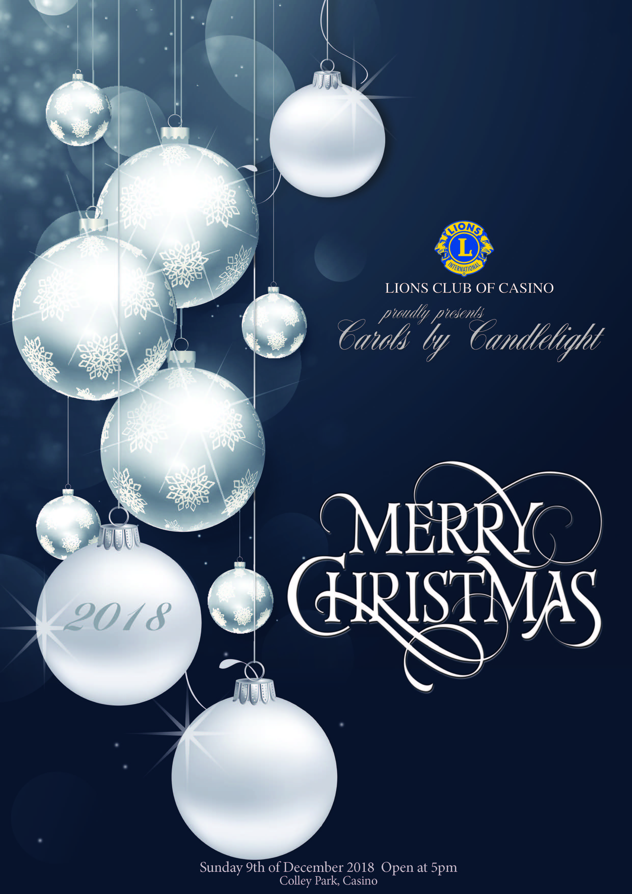 HCarols by Candlelight Casino, Heartland Magazine Casino NSW Printing, Lions Club Casino NSW, NSW News and Events