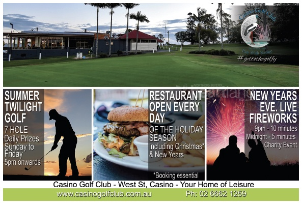 Casino Golf Club, Casino New Years Eve Fireworks, Heartland Magazine Casino NSW News, Events and Advertising