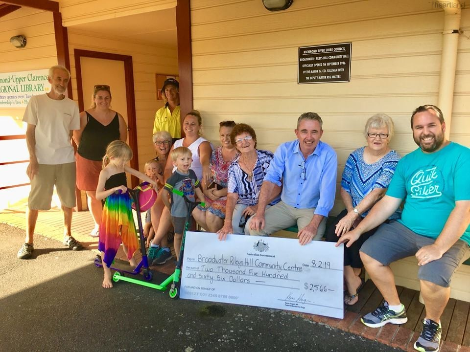 Broadwater Rileys Hill Community Centre, Federal Member for Page Kevin Hogan, Heartland Magazine, News