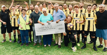 New mower and shed for Goonellabah Football Club GOONELLABAH NEWS, HEARTLAND MAGAZINE NEWS AND EVENTS, KEVIN HOGAN MP
