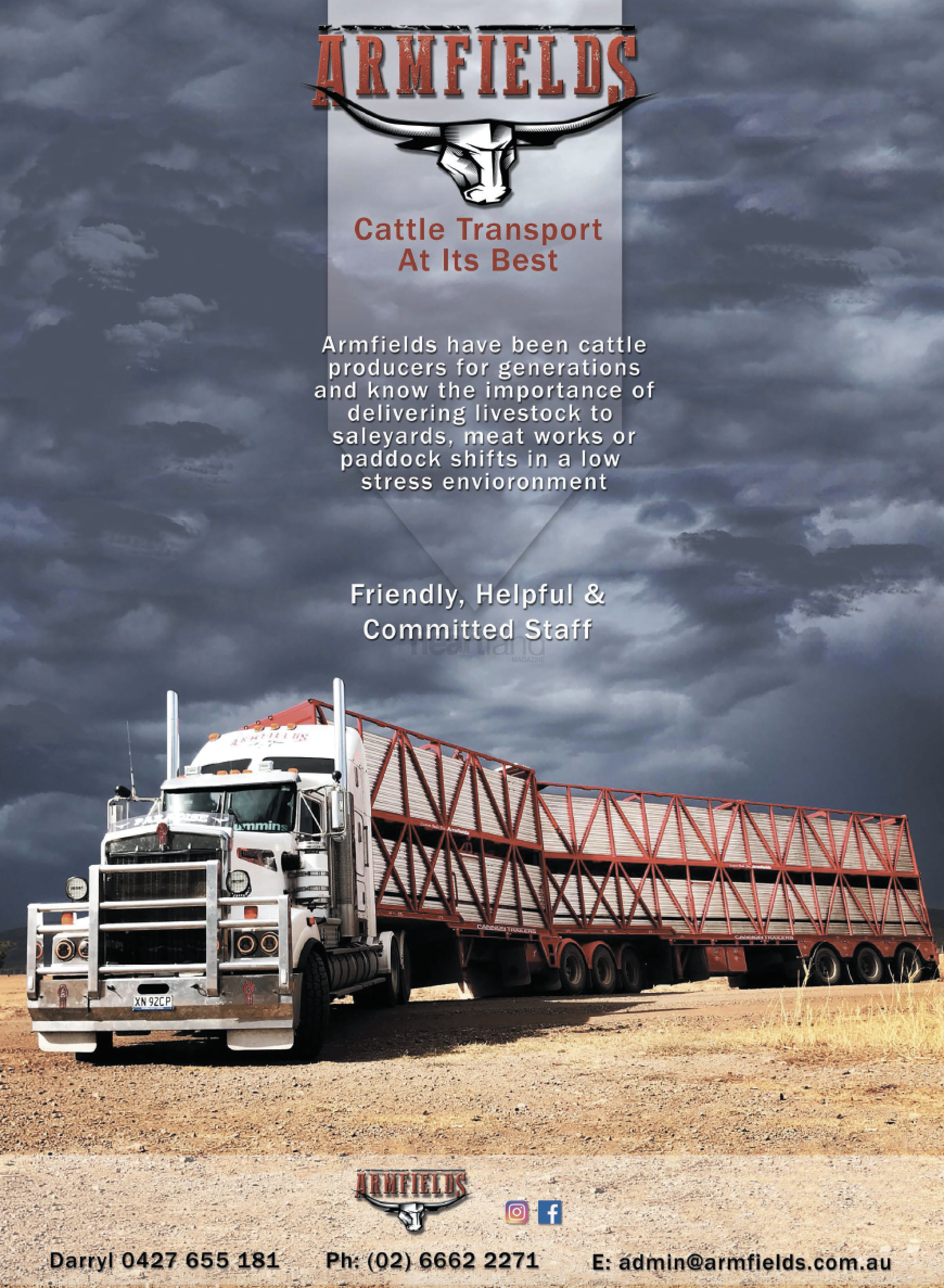 ARMFIELDS CATTLE TRANSPORT, Heartland Magazine NSW