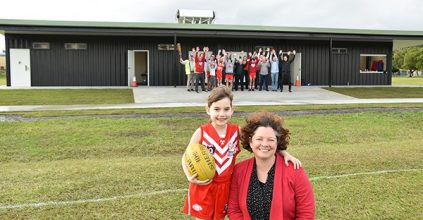 Lismore news New shipping container amenities opened at Mortimer Field, Lismore Swans Junior AFL Club