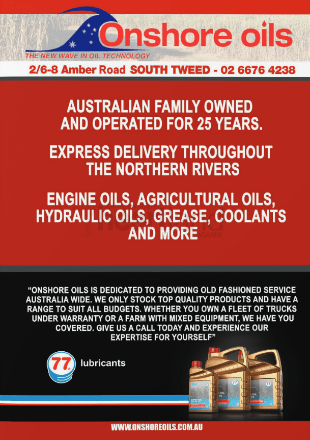 Onshore Oils, Heartland Magazine Tweed Heads