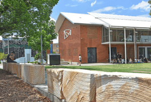 Lismore News, New sandstone safety barriers installed at The Quad