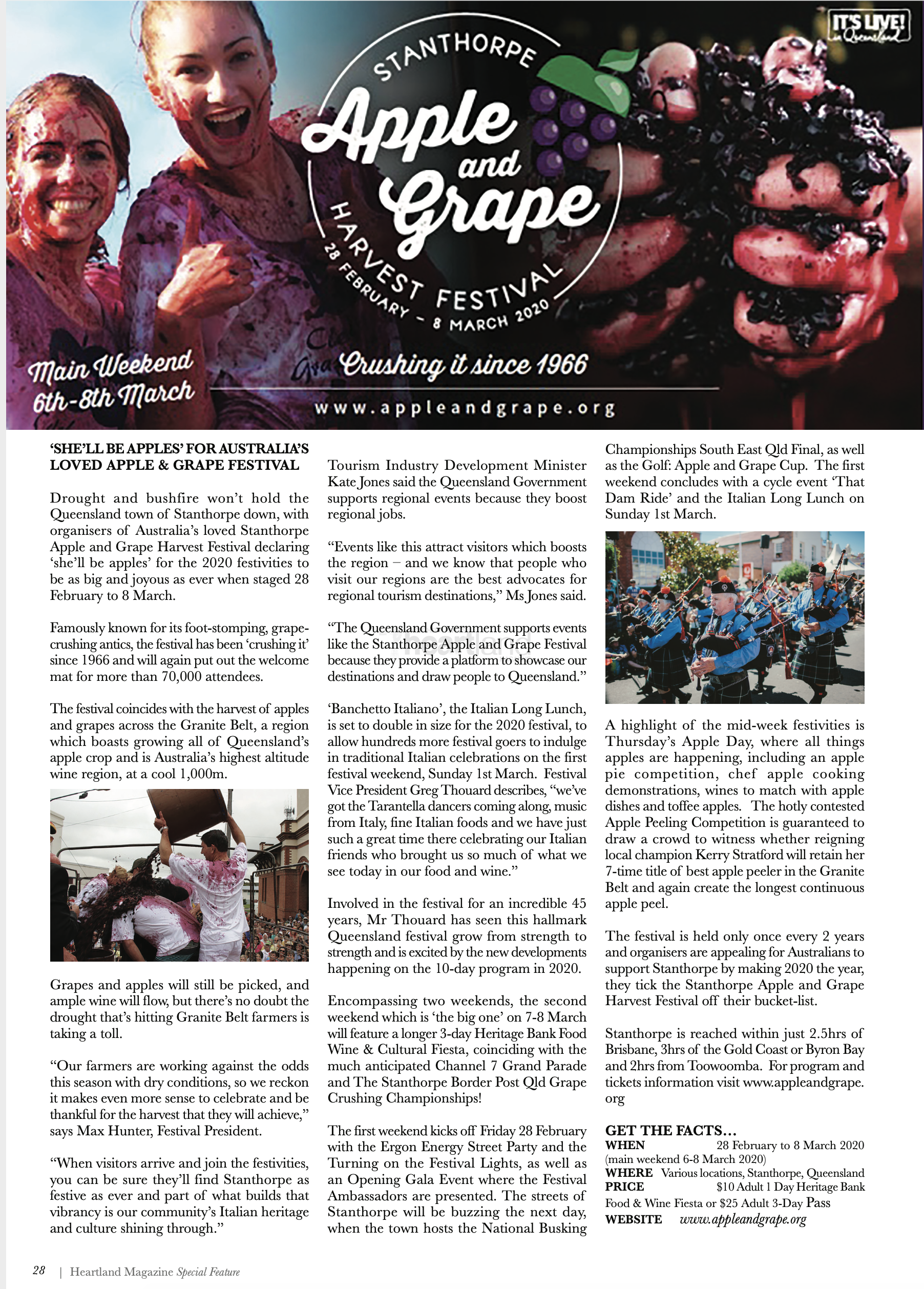 The Stanthorpe Apple & Grape Harvest Festival