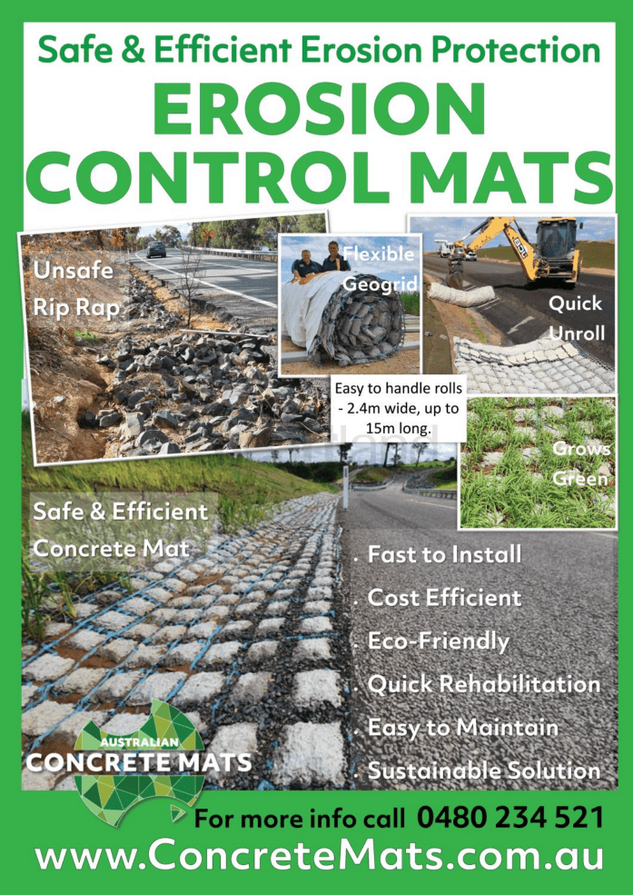 Concrete Mats, NSW, Heartland Magazine North East Waste, NSW, Victoria News Heartland magazine, Queensland Magazine Heartland magazine, Sydney News and Events Heartland Magazine