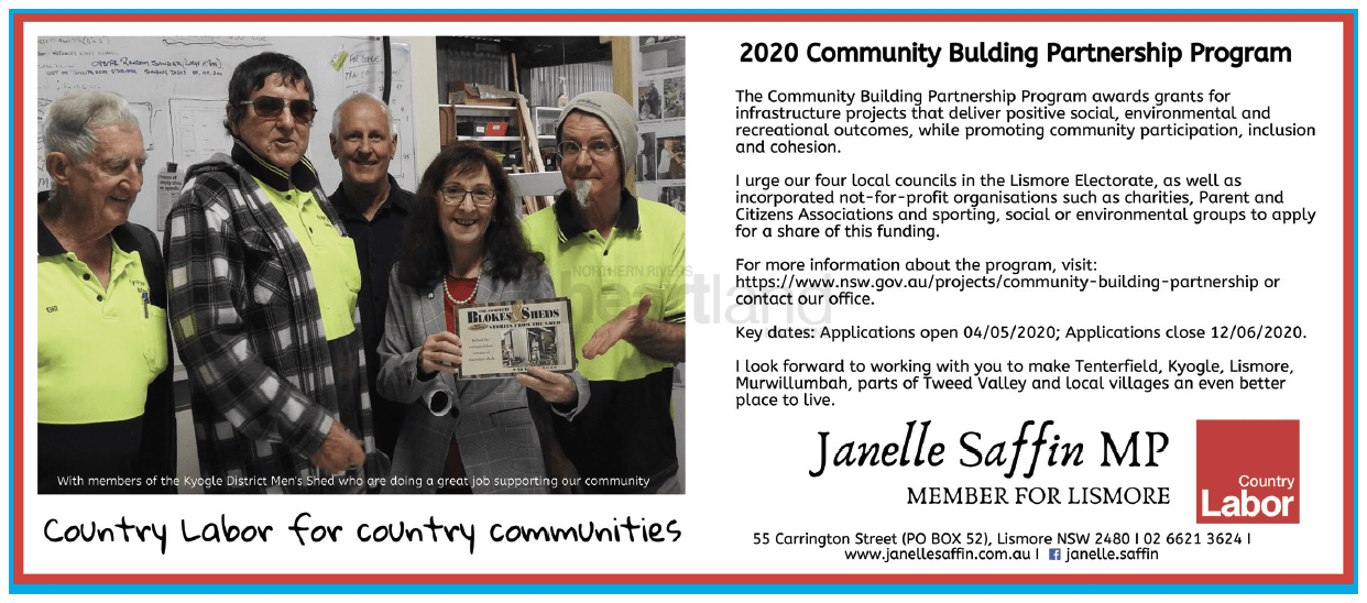 Janelle Saffin, Lismore, Chris Gulaptis, NSW National Party, Betta Electrical, Lismore Toyota, Heartland Magazine Lismore, News, Advertising New South Wales, Magazine Advertisement