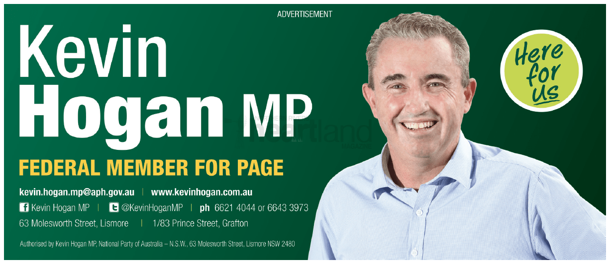 Kevin Hogan MP, Janelle Saffin, Lismore, Chris Gulaptis, NSW National Party, Betta Electrical, Lismore Toyota, Heartland Magazine Lismore, News, Advertising New South Wales, Magazine Advertisement